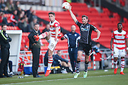 Doncaster Rovers midfielder, on loan from Chelsea, Jordan Houghton (16)  keeps the ball in  during the EFL Sky Bet League 2 match between Doncaster Rovers and Colchester United at the Keepmoat Stadium, Doncaster, England on 15 October 2016. Photo by Simon Davies.
