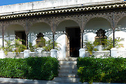 Facade at Rawla Narlai, 17th Century merchant's house now a luxury heritage hotel in Narlai, Rajasthan, Northern India