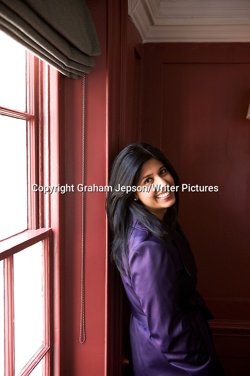 Debut Novelist Sarita Mandanna, photographed at Soho House, London<br /> <br /> copyright Graham Jepson/Writer Pictures<br /> contact +44 (0)20 822 41564<br /> info@writerpictures.com<br /> www.writerpictures.com