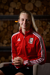 NEWPORT, WALES - Thursday, January 17, 2019: Wales' Elise Hughes during a media session at the Coldra Court Hotel ahead of the International Friendly game against Italy. (Pic by David Rawcliffe/Propaganda)