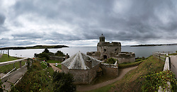 A general view of St Mawes Castle, Falmouth, Cornwall<br /> *EDITORS NOTE COMPOSITE IMAGE*
