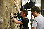 120316 _ YLC Rock climbing on rock wall