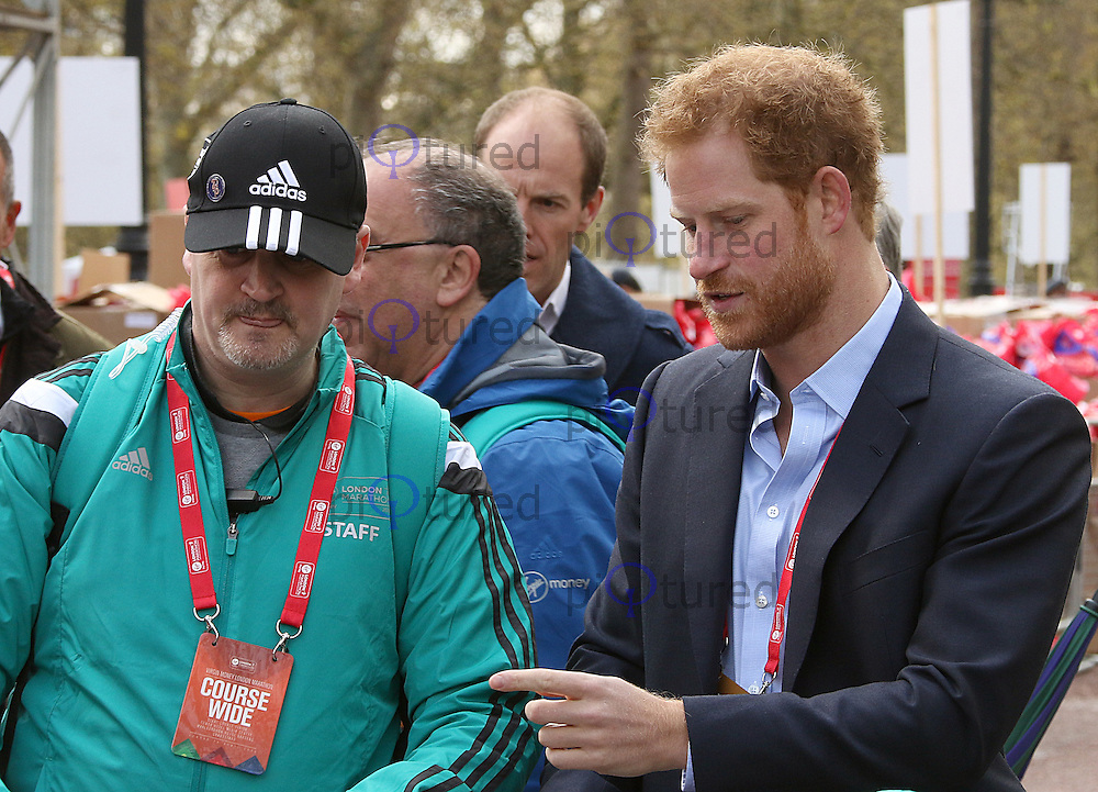 HRH Prince Harry, Virgin Money London Marathon, London UK, 24 April 2016, Photo by Brett D. Cove