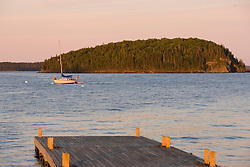 Pier in Bar Harbor Maine USA