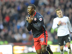 Yakubu Celebrates after scoring Readings Second  and Winning Goal at Derby, Derby County v Reading, FA Cup 5th Round, The Ipro Stadium, Saturday 14th Febuary 2015