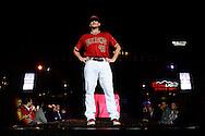 PHOENIX, AZ - DEC 3: D-backs Daniel Hudson walks down the runway in one of the new 2016 uniforms. (Photo by Jennifer Stewart/Arizona Diamondbacks)