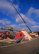 A913R2 New private housing estate being constructed Rendlesham Suffolk England