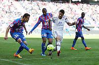 Damien DA SILVA / Clement GRENIER - 09.05.2015 -  Caen / Lyon  - 36eme journee de Ligue 1<br />Photo : Vincent Michel / Icon Sport