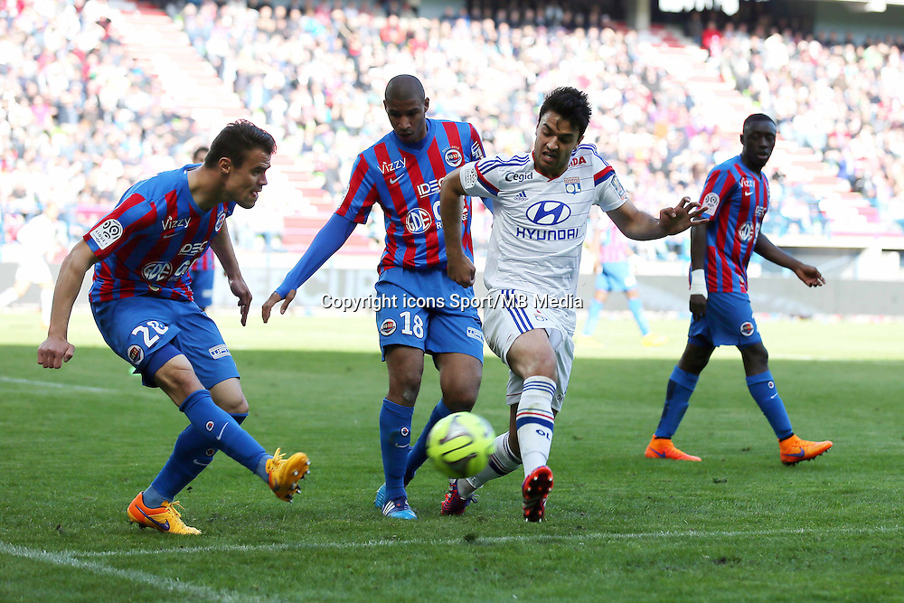 Damien DA SILVA / Clement GRENIER - 09.05.2015 -  Caen / Lyon  - 36eme journee de Ligue 1<br />