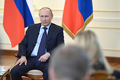 MAR 04 2014 Russian President Vladimir Putin speaks during press conference