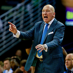 Nov 11, 2016; New Orleans, LA, USA;  Tulane Green Wave head coach Mike Dunleavy Sr. reacts from the bench during the second half of a game against the North Carolina Tar Heels at the Smoothie King Center. North Carolina defeated Tulane 95-75. Mandatory Credit: Derick E. Hingle-USA TODAY Sports