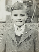 vintage portrait of young boy England