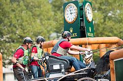 Michael Brauchle, (GER), Carola 83, Cassanova T, Clinton, Jamaika, Shakira - Driving Marathon - Alltech FEI World Equestrian Games™ 2014 - Normandy, France.<br /> © Hippo Foto Team - Jon Stroud<br /> 06/09/2014