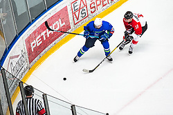 PRETNAR Klemen (SLO) vs FURUHASHI Makuru (JAP) during OI pre-qualifications of Group G between Slovenia men's national ice hockey team and Japan men's national ice hockey team, on February 9, 2020 in Ice Arena Podmezakla, Jesenice, Slovenia. Photo by Peter Podobnik / Sportida