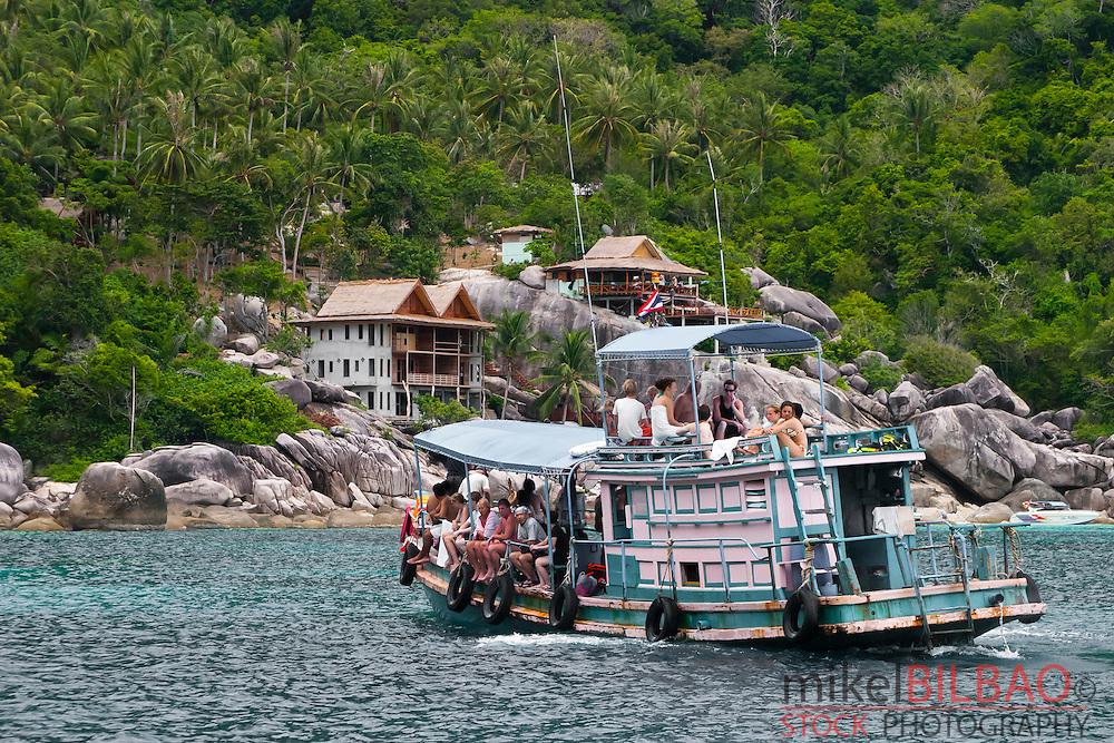 Diver´s boat. Ko Tao island. Gulf of Thailand. Thailand.