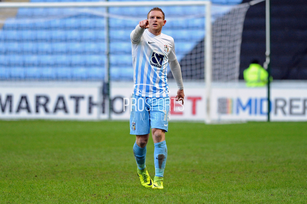 Stuart Beavon of Coventry City (16) during the EFL Sky Bet League 1 match between Coventry City and Millwall at the Ricoh Arena, Coventry, England on 4 February 2017. Photo by Andy Handley.