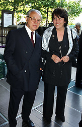 HUBERT BURDA and MRS GEORG MILBRADT at the opening of 'Princely Splendour; The Dresden Court 1580-1620' a new temporary exhibition at The Gilbert Collection, Somerset House, London sposored by Hubert Bruda Media, The Schroder Family and WestLB AG on 8th June 2005.<br />