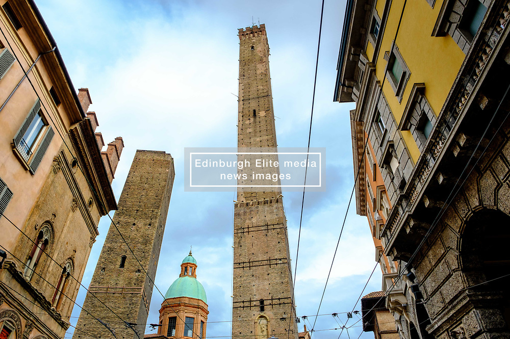The famous 'two towers' (Le due torri) of Bologna, Italy<br /> <br /> (c) Andrew Wilson | Edinburgh Elite media