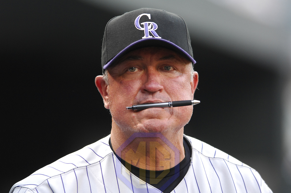 08 June 2007:  Colorado Rockies manager Clint Hurdle in action against the Baltimore Orioles.  The Orioles defeated the Rockies 4-2 in interleague play at Camden Yards in Baltimore, MD.   ****For Editorial Use Only****