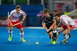 Germany's Tobias Hauke. England v Germany - Semi-Final Unibet EuroHockey Championships, Lee Valley Hockey & Tennis Centre, London, UK on 27 August 2015. Photo: Simon Parker