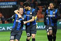 """Esultanza di Antonio Cassano Inter dopo il gol<br /> goal celebration<br /> Milano 10/02/2013 Stadio """"San Siro""""<br /> Football Calcio Serie A 2012/13<br /> Inter v Chievo Verona<br /> Foto Insidefoto Paolo Nucci"""
