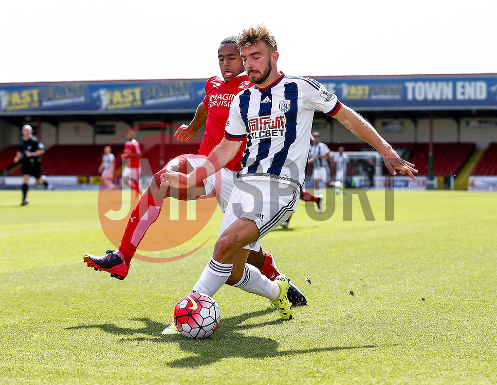 James Morrison of West Brom in action - Mandatory byline: Rogan Thomson/JMP - 07966 386802 - 25/07/2015 - SPORT - Football - Swindon, England - The County Ground - Swindon Town v West Bromwich Albion - 2015/16 Pre Season Friendly.
