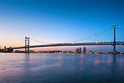 Philadelphia, PA, Skyline, Sunset, Ben Franklin Bridge, River Reflections, Phila, Philly, PA