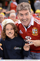 29 June 2013; British & Irish Lions supporters Greg and Heather Crowe, age 9, from Kilkenny City, ahead of the game. British & Irish Lions Tour 2013, 2nd Test, Australia v British & Irish Lions, Ethiad Stadium, Melbourne, Australia. Picture credit: Stephen McCarthy / SPORTSFILE
