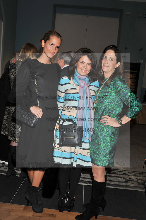 Left to right, ?, DANIELLA ISSA HELAYEL and LADY RUDDOCK at a private view of the V&A's exhibition Golden Spider Silk held at the Victoria & Albert museum, London on 24t January 2012.