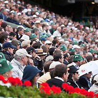 7 June 2009: Spectators are seen during the Men's Singles Final match on day fifteen of the French Open at Roland Garros in Paris, France.