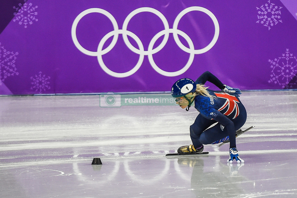 February 17, 2018 - Pyeongchang, Gangwon, South Korea - Elise Christie of  Great Britain competing in 1500 meter speed skating for women at Gangneung Ice Arena, Gangneung, South Korea on 17 February 2018. (Credit Image: © Ulrik Pedersen/NurPhoto via ZUMA Press)
