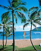 Kalapaki Bay, Kauai Lagoons, Westin, Kauai, Hawaii, USA<br />