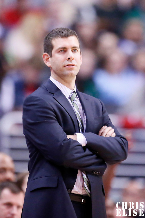 08 January 2014: Boston Celtics head coach Brad Stevens is seen during the Los Angeles Clippers 111-105 victory over the Boston Celtics at the Staples Center, Los Angeles, California, USA.