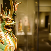 Sackler Gallery Crypt Guardians. Chinese crypt guardians. The Arthur M. Sackler Gallery, located behind the Smithsonian Castle, showcases ancient and contemporary Asian art. The gallery was founded in 1982 after a major gift of artifacts and funding by Arthur M. Sackler. It is run by the Smithsonian Institution.