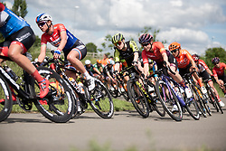 Tiffany Cromwell (AUS) of CANYON//SRAM Racing leans into a corner on Stage 2 of 2019 OVO Women's Tour, a 62.5 km road race starting and finishing in the Kent Cyclopark in Gravesend, United Kingdom on June 11, 2019. Photo by Balint Hamvas/velofocus.com
