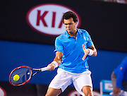 Jo-Wilifried Tsonga faced R. Federer (SUI) the fourth round of the 2014 Australian Open Men's Singles. Billed as a grudge match between rivals, Federer easily moved on to the quarterfinals where he will meet Andy Murray GBR). Federer beat Tsonga 6-3, 7-5, 6-4.