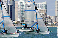 MIAMI, February 2, 2013 - Racing took place off of the beach on Virginia Key with the Miami skyline in the background.