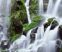 To capture the green moss and soft flowing water, I used a slow shutter speed with my camera set up on a tripod to photograph Ramona Falls on Mt Hood.