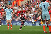 Football - 2018 / 2019 Premier League - Southampton vs. Chelsea<br /> <br /> Southampton's Nathan Redmond fires a long range effort onto the crossbar at St Mary's Stadium Southampton<br /> <br /> COLORSPORT/SHAUN BOGGUST