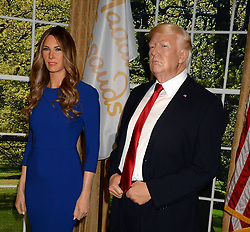 NEW YORK, NY - APRIL 25: New wax figure of the First Lady Melania Trump flanking a figure of US President Donald Trump at the Madame Tussaud's in New York City on April 25, 2018. CAP/MPI122 ©MPI122/Capital Pictures. 26 Apr 2018 Pictured: Melania Trump, Donald Trump. Photo credit: MPI122/Capital Pictures / MEGA TheMegaAgency.com +1 888 505 6342