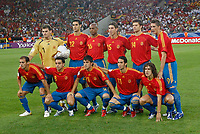 Photo: Glyn Thomas.<br />Spain v Tunisia. FIFA World Cup 2006. 19/06/2006.<br /> Spain's team.