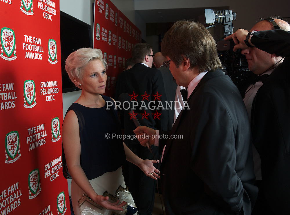 CARDIFF, WALES - Monday, October 8, 2012: Wales' Jessica Fishlock during the FAW Player of the Year Awards Dinner at the National Museum Cardiff. (Pic by David Rawcliffe/Propaganda)