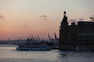 Turkey. Istambul. Asian side., Haydarpasa Port and Bosphorus