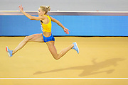 Olga Saladukha (Ukraine) Women's Triple Jump, during the European Athletics Indoor Championships at Emirates Arena, Glasgow, United Kingdom on 3 March 2019.