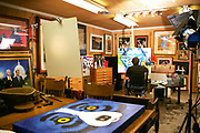 Blue Dog artist George Rodrigue in his studio