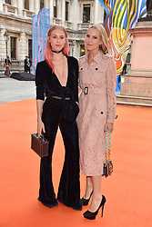 Left to right, Lady Mary Charteris and Alice Naylor-Leyland at the Royal Academy of Arts Summer Exhibition Preview Party 2017, Burlington House, London England. 7 June 2017.