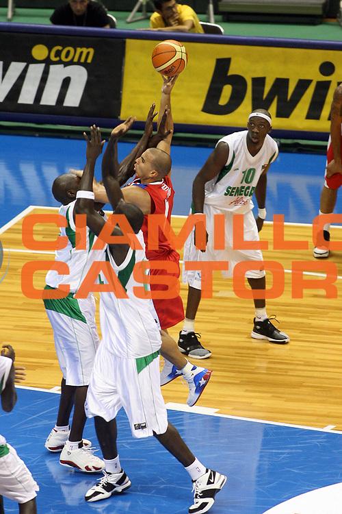 DESCRIZIONE : Sapporo Giappone Japan Men World Championship 2006 Campionati Mondiali Senegal-Puerto Rico <br /> GIOCATORE : Arroyo <br /> SQUADRA : Puerto Rico Porto Rico <br /> EVENTO : Sapporo Giappone Japan Men World Championship 2006 Campionato Mondiale Senegal-Puerto Rico <br /> GARA : Senegal Puerto Rico Senegal Porto Rico <br /> DATA : 20/08/2006 <br /> CATEGORIA : Tiro Sponsor Betawin <br /> SPORT : Pallacanestro <br /> AUTORE : Agenzia Ciamillo-Castoria/G.Ciamillo <br /> Galleria : Japan World Championship 2006<br /> Fotonotizia : Sapporo Giappone Japan Men World Championship 2006 Campionati Mondiali Senegal-Puerto Rico <br /> Predefinita :
