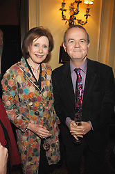 IAN HISLOP and MARJORIE WALLACE at the 2008 Oldie of The year Awards and lunch held at Simpsons in The Strand, London on 11th March 2008.<br /><br />NON EXCLUSIVE - WORLD RIGHTS
