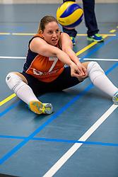 22-09-2017 NED: Training zitvolleybalsters Oranje 2017-2018, Leersum<br /> Nederland bereidt zich voor op het komende EK zitvolleybal / Jacqueline Koppers #7