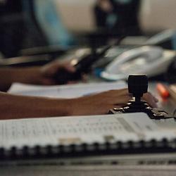 Images d'illustration r&eacute;alis&eacute;es &agrave; la maison d'arr&ecirc;t de Fleury-M&eacute;rogis dans le cadre d'un voyage de presse organis&eacute; par le GICAT.<br /> Fleury-M&eacute;rogis (mai 2014)